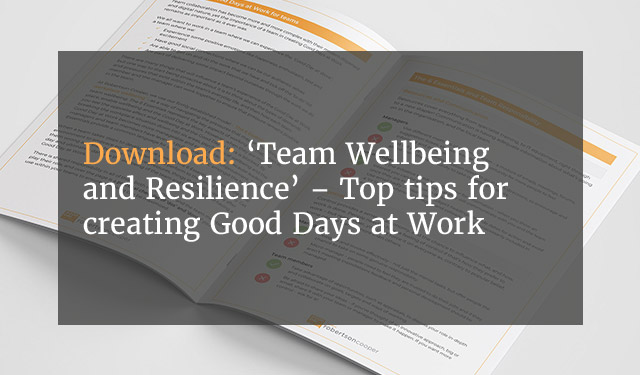 Robertson Cooper Team Wellbeing and Resilience